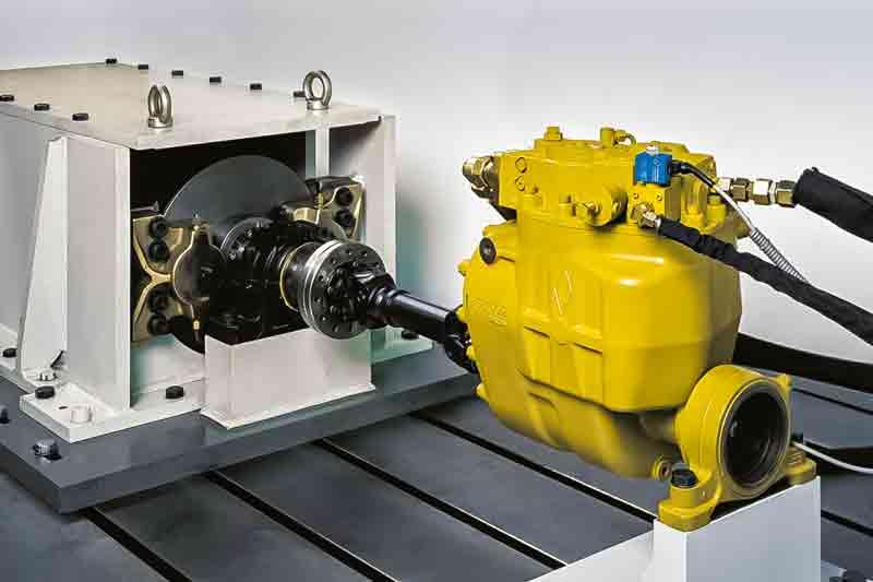 Der hydrostatische Antrieb ICVD wird im eigenen Versuch getestet.