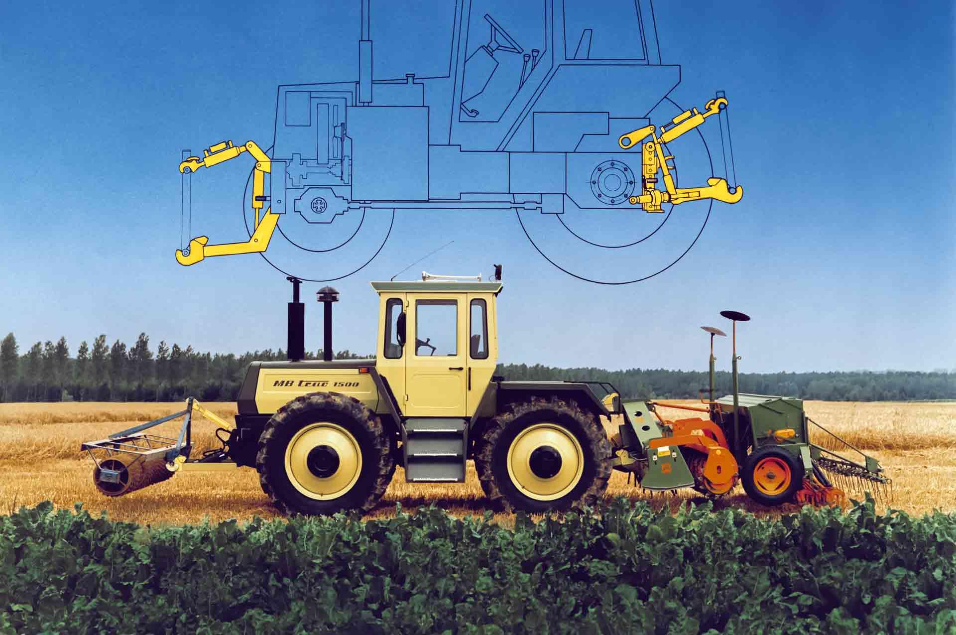 Das Traktor-Anbau-System (TAS) vereint Unterlenker, Fanghaken und Stabilisierungssystem. Es lässt sich am Heck und/oder an der Front anbrin- gen und entwickelt sich rasch zum Erfolgsmodell.