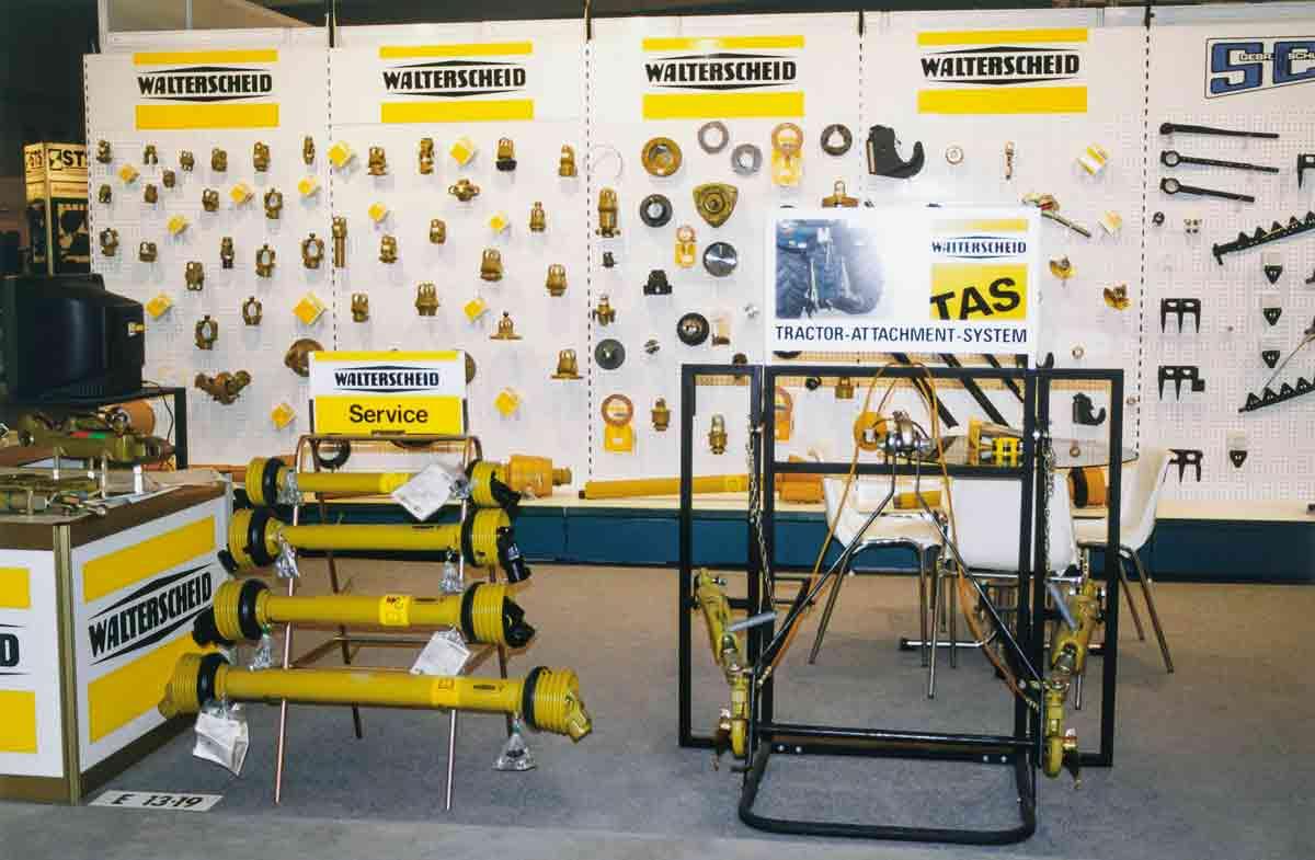 Messeauftritt eines Systemlieferanten: Walterscheid bietet neben seinen Hauptprodukten – den Gelenkwellen und dem Traktor-Anbau-System – viele weitere Landtechnik-Komponenten.