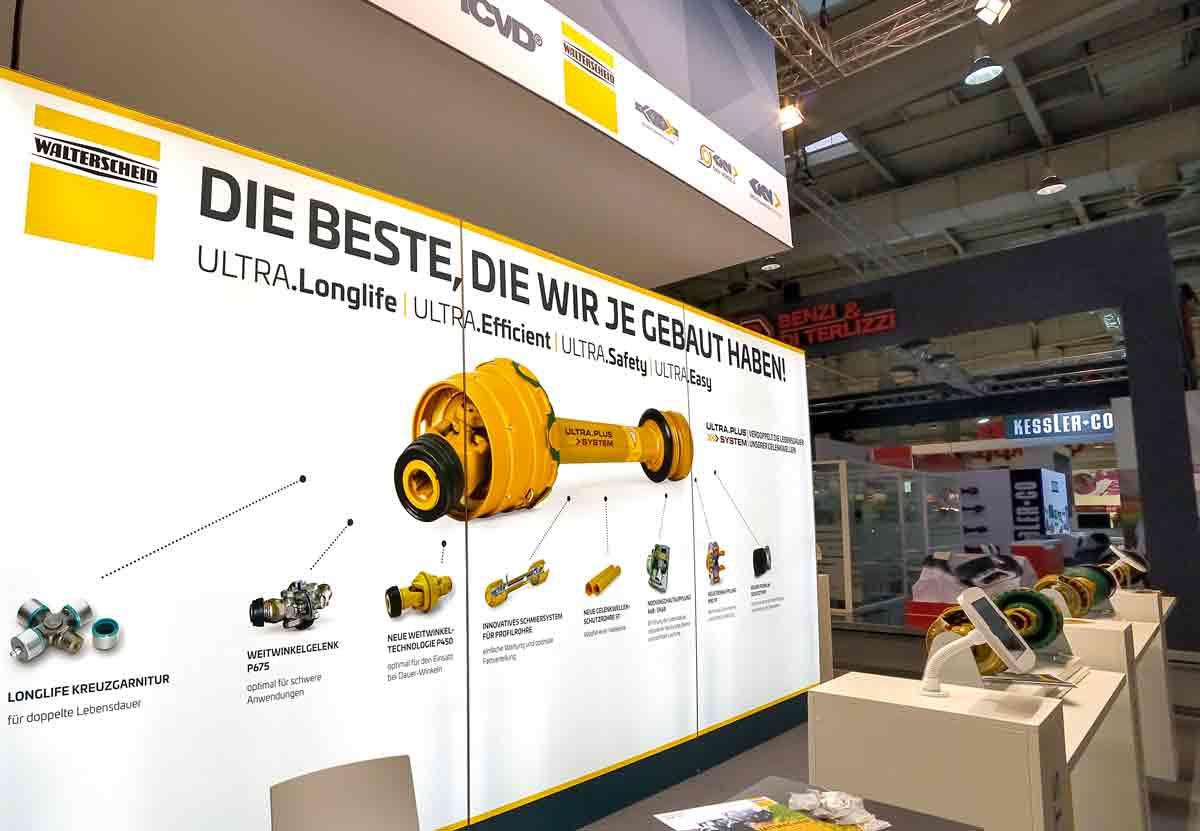 Ultra Plus – mit der vierten Generation der gelben Gelenk- welle blickt Walterscheid im Jubiläumsjahr 2019 optimistisch in die Zukunft.