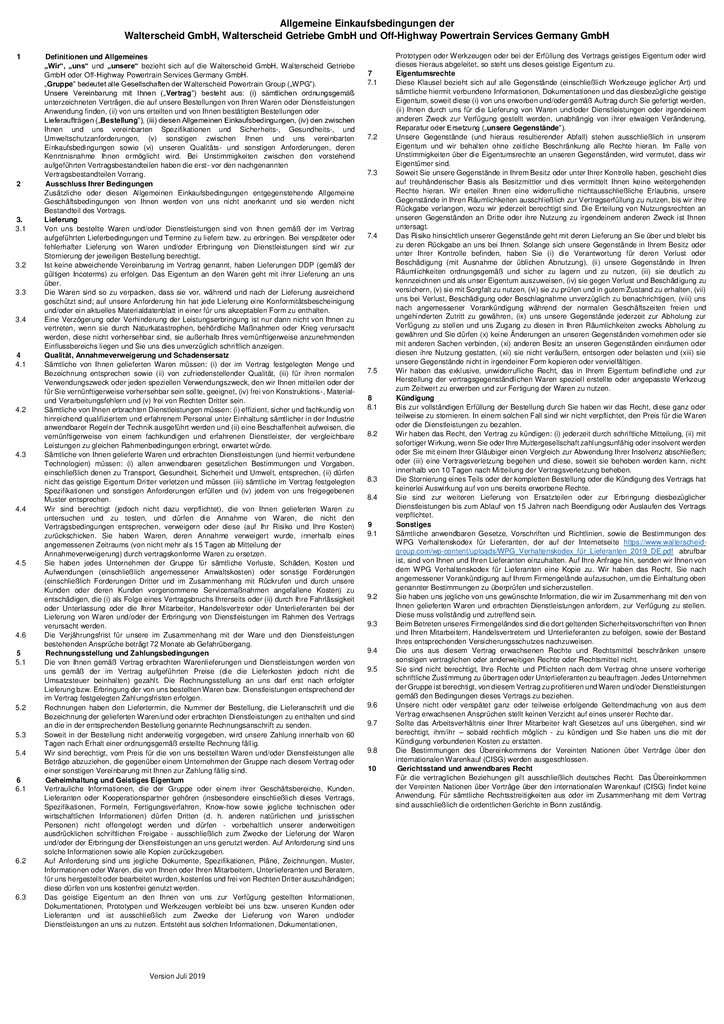 thumbnail of Allgemeine Einkaufsbedingungen der WPG Gesellschaften in Deutschland