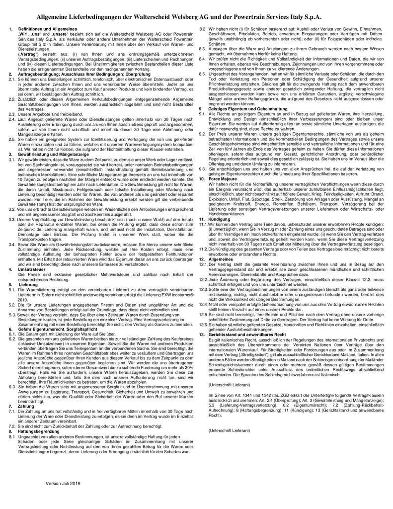 thumbnail of Allgemeine Lieferbedingungen Italien