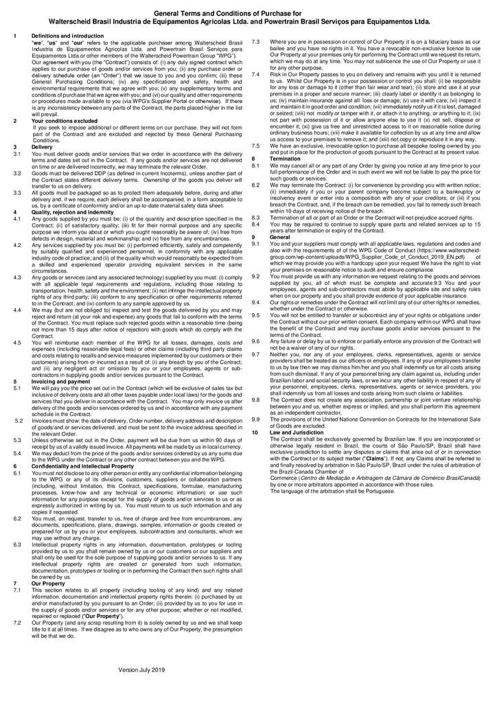 thumbnail of General Terms and Conditions of Purchase for Brazil