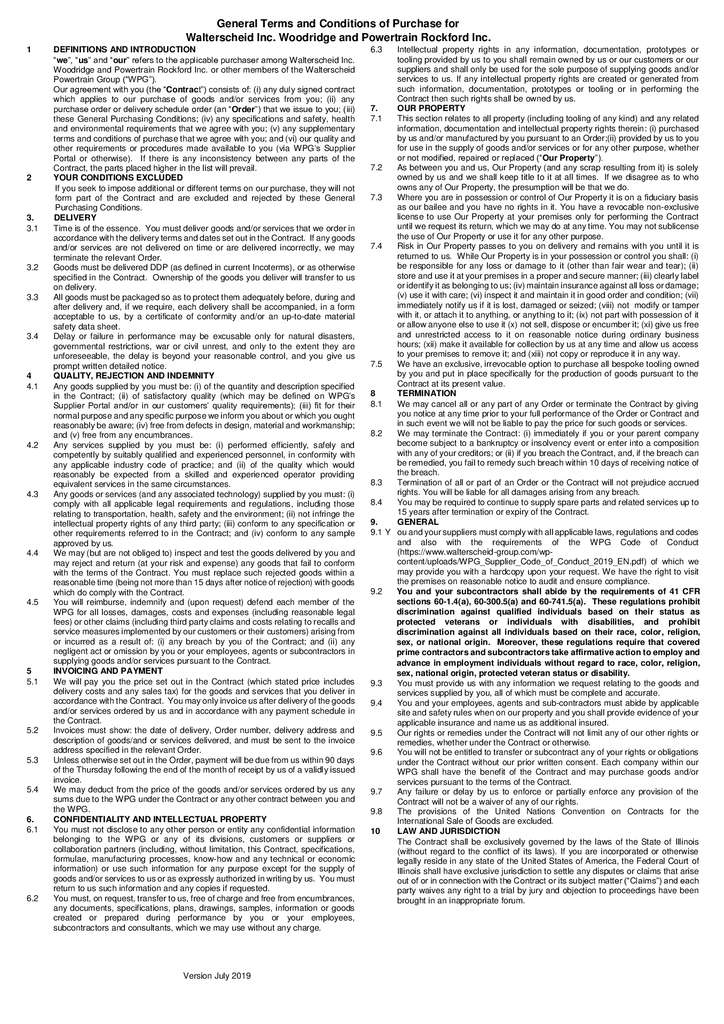 thumbnail of Terms and Conditions of Puchase for the US