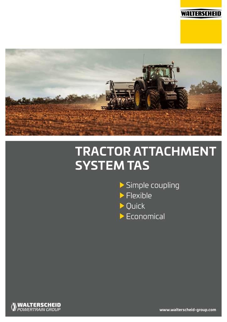 Walterscheid Tractor attachment systems brochure 2019