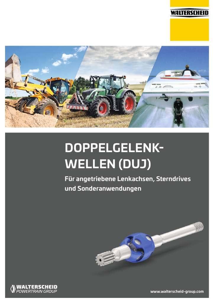 DUJ – Double Universal Joint Driveshafts Broschüre