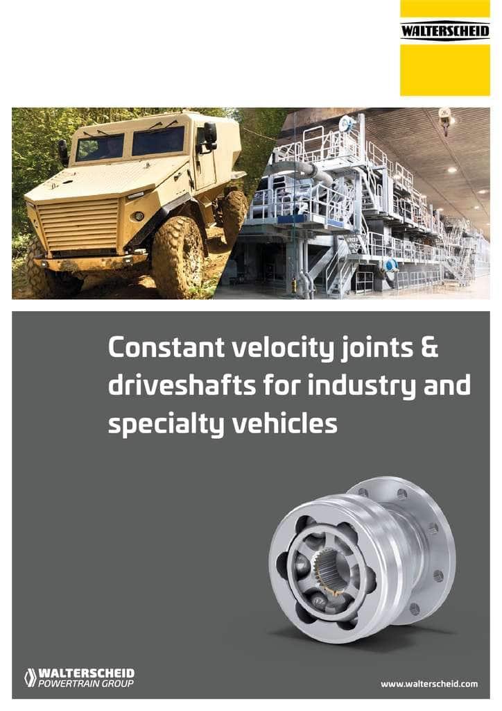 Walterscheid Constant Velocity Joints brochure