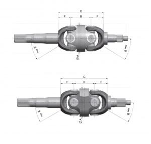 Duj Double Universal Joint Axle Shafts Walterscheid
